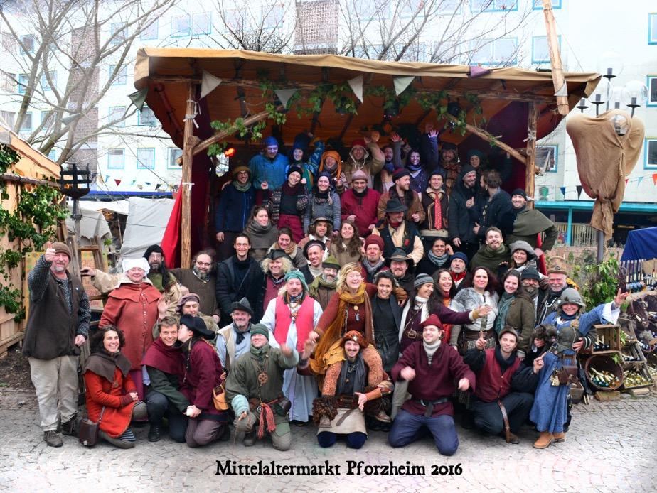 Pforzheimer Weihnachtsmarkt.Mittelaltermaerkte